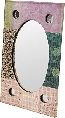 The Thar Store – Royal Elegant Sheesham Wood Handcrafted Wall Mirror with Mirror | Wash Basin | with Frame for Bedroom Home Décor Living Room Bathroom, The Perfect Home Décor Royal Heritage Look