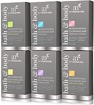 ArtNaturals Natural Soap Bar Gift Set - (6 x 4 Oz / 113g) - for All and Sensitive Skin Types - Bath Hand, Body and Face - Tea Tree, Lavender, Eucalyptus, Lemon, Grapefruit and Orange - Men and Women