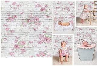 Laeacco 3x5ft Thin Vinyl Photography Backdrops Brick Florets Wall Baby Newborn Birthday Photo Background Studio Props 1x1.5meter
