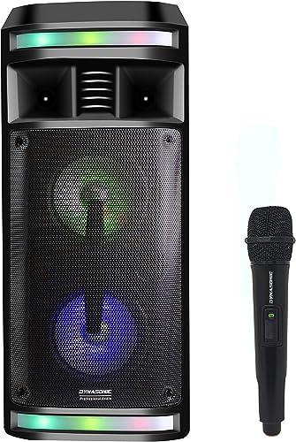 DYNASONIC - DY-65201 Haut-Parleur Bluetooth sans Fil | Système Audio Bluetooth, Haut-Parleur Portable, USB, lumières ...