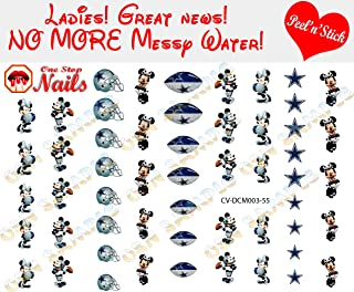 Cowboys Mickey and Minnie Clear Vinyl PEEL and STICK (NOT Waterslide) nail decals/stickers V3. Set of 55. (A1)