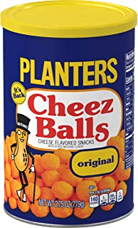 PLANTERS Cheez Balls Canister - Nostalgia Flavor Cheese Snack - Shareable Snacks for Adults & Snacks for Kids - Bulk Snack...