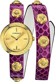 Medusa Stud Icon Quartz Gold Dial Ladies Watch VERF00218