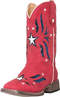 Children Western Cowboy Cowgirl Boot, Glitter Star by Silver Canyon for Girls and Toddlers