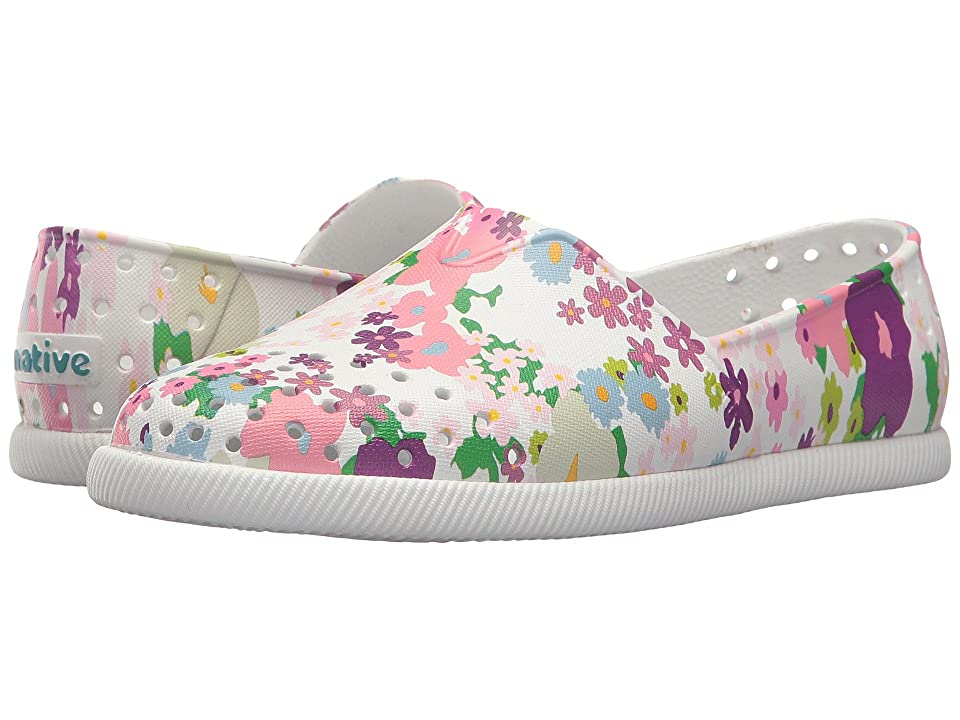 Native Kids Shoes Verona Print (Little Kid) (Shell White/Shell White/Daisy Chain) Girl
