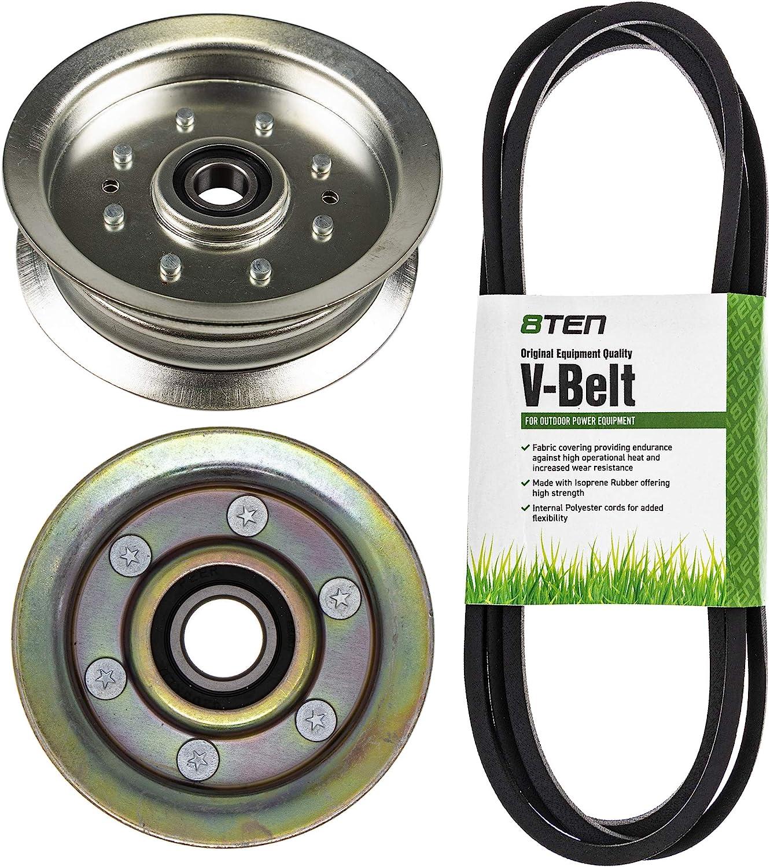 Brand new 8TEN Deck Idler Belt Kit for John L118 L108 D Deere L111 Charlotte Mall GX20072