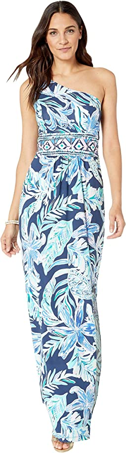High Tide Navy Ready Set Gecko Engineered Maxi Dress