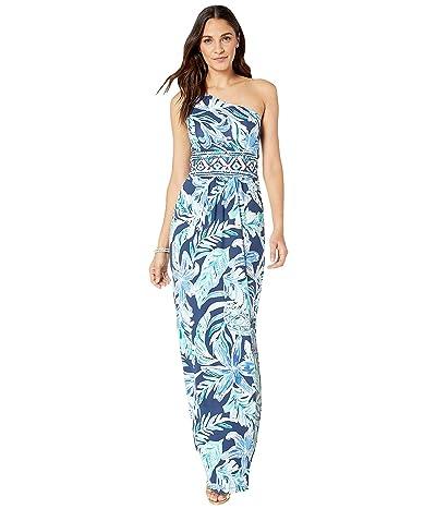 Lilly Pulitzer Malia Maxi Dress (High Tide Navy Ready Set Gecko Engineered Maxi Dress) Women