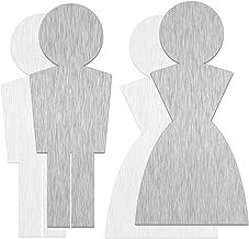 SCHILDER Systeme Aluminium wc-bord in roestvrij staal   dames - heren - rolstoel   hoogte 120 mm   dikte 0,5 mm   zelfklev...