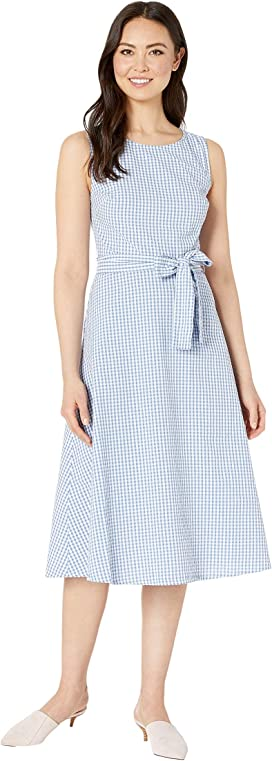 0fd72f5f LAUREN Ralph Lauren Gingham Tie Neck Dress at Zappos.com