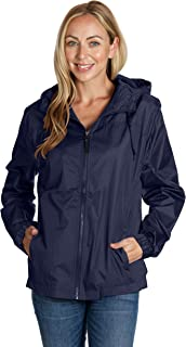 Equipment De Sport USA Ladies Hooded Wind Resistant/Water Repellent Windbreaker Jacket