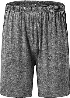 Sponsored Ad - JINSHI Mens Sleeping Stretch Boxer Shorts Ultra-Soft Modal Lounge Pajama Bottoms with Pockets