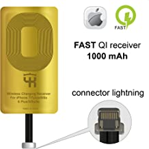 QI Receiver for IPhone 5- 5c- SE- 6- 6 Plus- 7- 7 Plus- IPhone Wireless Receiver- QI Receiver- Charging Receiver - QI Wireless Receiver IPhone- QI Wireless Charging Adapter