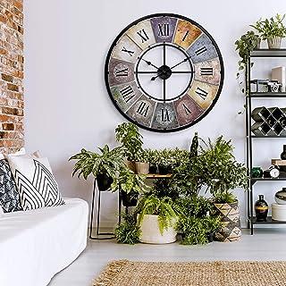 Duży zegar ścienny Vintage Retro XXL antyczny metal stal szlachetna styl shabby Retro rzymskie cyfry duże Ø 80 cm Wall-Art...