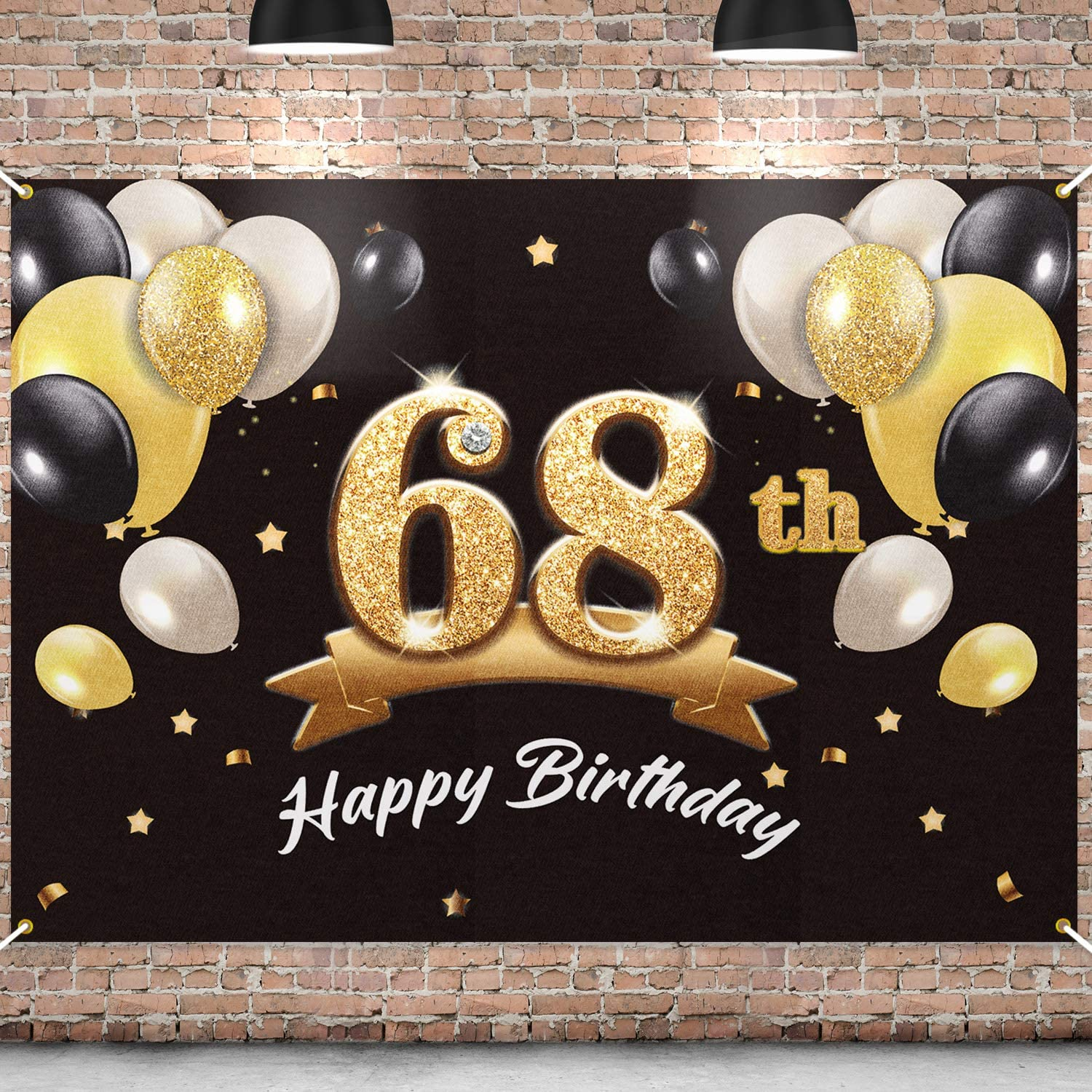 PAKBOOM Happy 68th Indianapolis unisex Mall Birthday Banner - Backdrop 68 Party