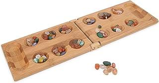 マンカラ 竹製折りたたみ式 なダブルゲーム 子供のMancalaボードゲームの旅行ゲーム