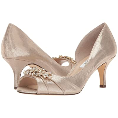 Nina Cyrene (Taupe Reflective Suedette) High Heels