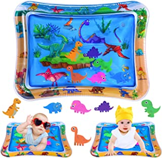 INNOCHEER Tummy Time Water Mat, Baby Toys for 3, 6, 9, 12 Months - Inflatable Water Play Mat for Baby Infants for Sensory Development, Visual Stimulation Toy 26 x 20 inches