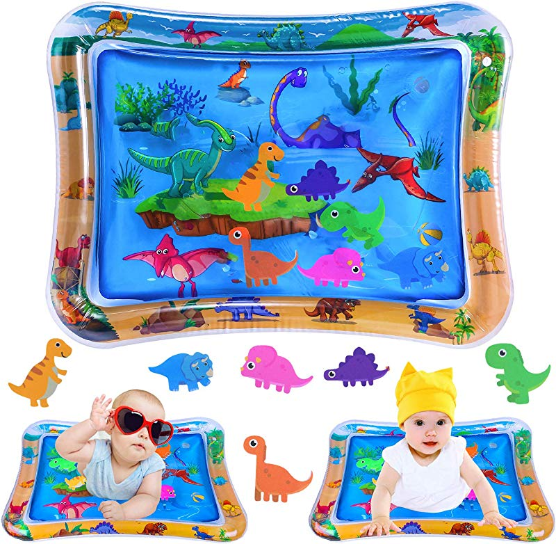 INNOCHEER Tummy Time Water Mat Baby Toys For 3 6 9 12 Months Inflatable Water Play Mat For Baby Infants For Sensory Development Visual Stimulation Toy 26 X 20 Inches