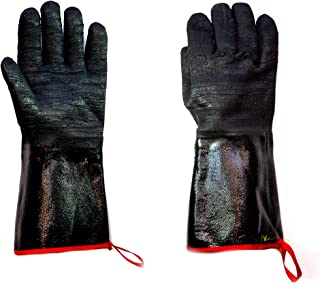 G & F Products 8119-13Inch Cooking Gloves FDA Food Safe No BPA Insulated Waterproof, Oil Proof Heat Resistant BBQ, Smoker, Grill, and Outdoor Neoprene Material, 13 Inch Long, Black