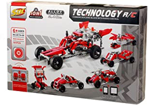 Bo-Toys R/C 10 in 1 Race Cars Building Bricks Radio Control Toy, 191 Pcs DIY Kit , Construction Build It Yourself Toy