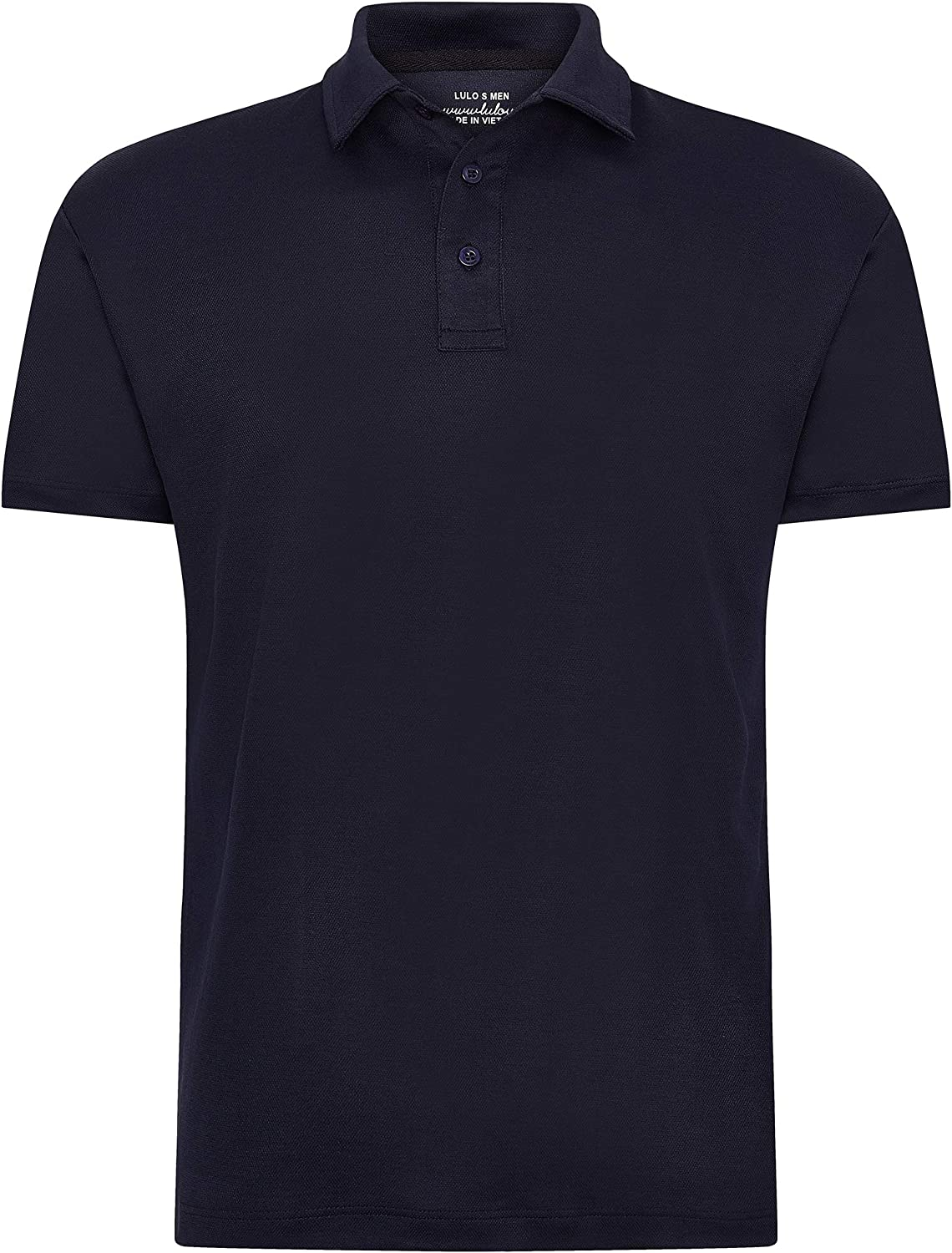 lulo Ment's Short Sleeve Cotton Back Pique Polo Shirt, Large