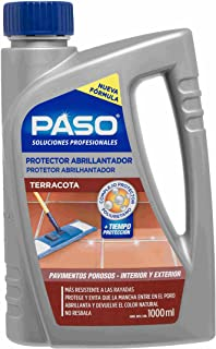 Paso - Abrillantador/Protector Suelo Terracota para interior y exterior, 1,0Lt