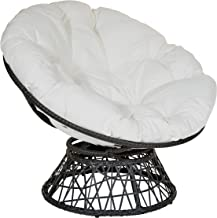 OSP Designs Papasan Chair, White