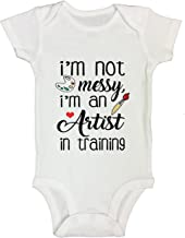 """Painting Onesie Shirt """"I'm Not Messy I'm an Artist in Training"""" Funny Threadz"""