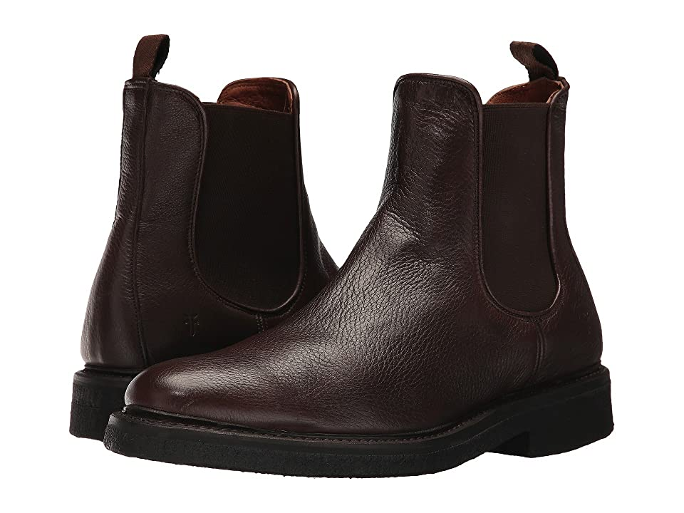 Frye Country Crepe Chelsea (Dark Brown Deer Skin Leather) Men