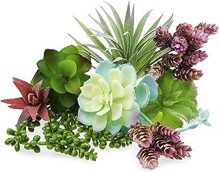 Artificial Succulents Unpotted Plants Big- 9PCS Fake Faux Realistic Flowers - Fake Plants for Succulent Planter wit Faux S...