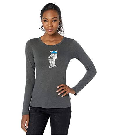Columbia Ruby Fallstm Long Sleeve Tee (Charcoal Heather/Foxy Play) Women