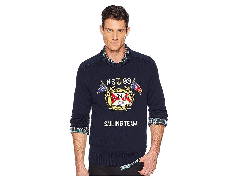Nautica 9GG Graphic Crew Sweater (Navy) Men
