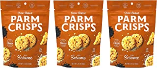 ParmCrisps Sesame 100% Cheese Crisps - Keto Friendly, Gluten Free, 1.75 Ounce Bag, Pack of 3 …