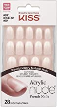 Kiss Salon Acrylic Nude French Nails, Graceful, 28 Count