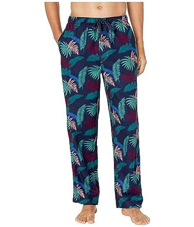 Tommy Bahama Flannel PJ Pants (Island Leaves Ocean) Men