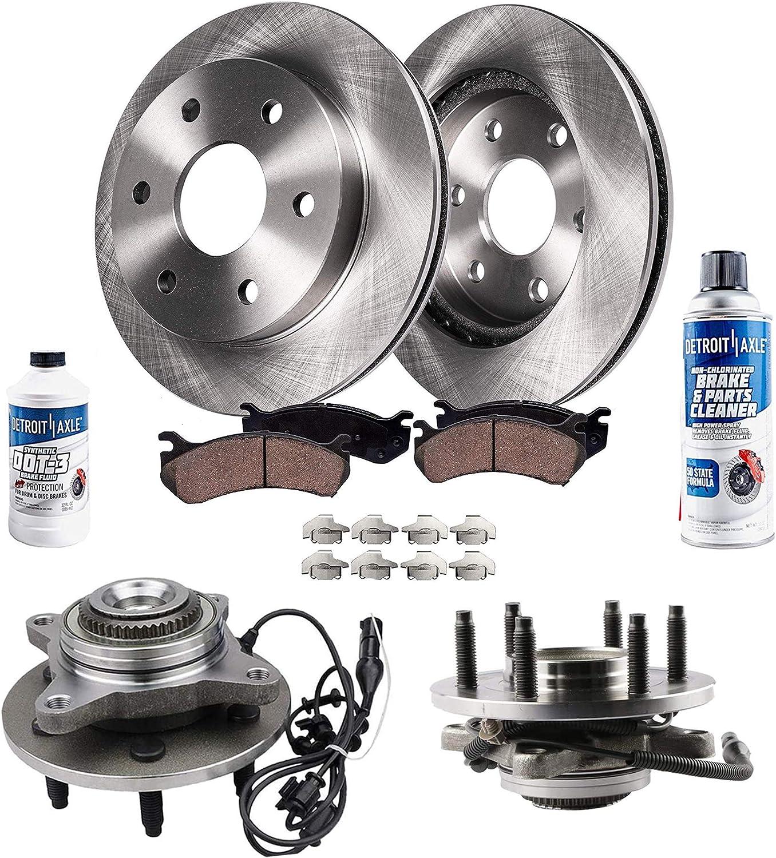 Detroit Axle - 8PC 即納送料無料! Front Wheel Hub Brake Kit Bearing 毎日激安特売で 営業中です Assemblies