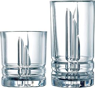 Luminarc N3574 Parallels Set, Glass, Clear