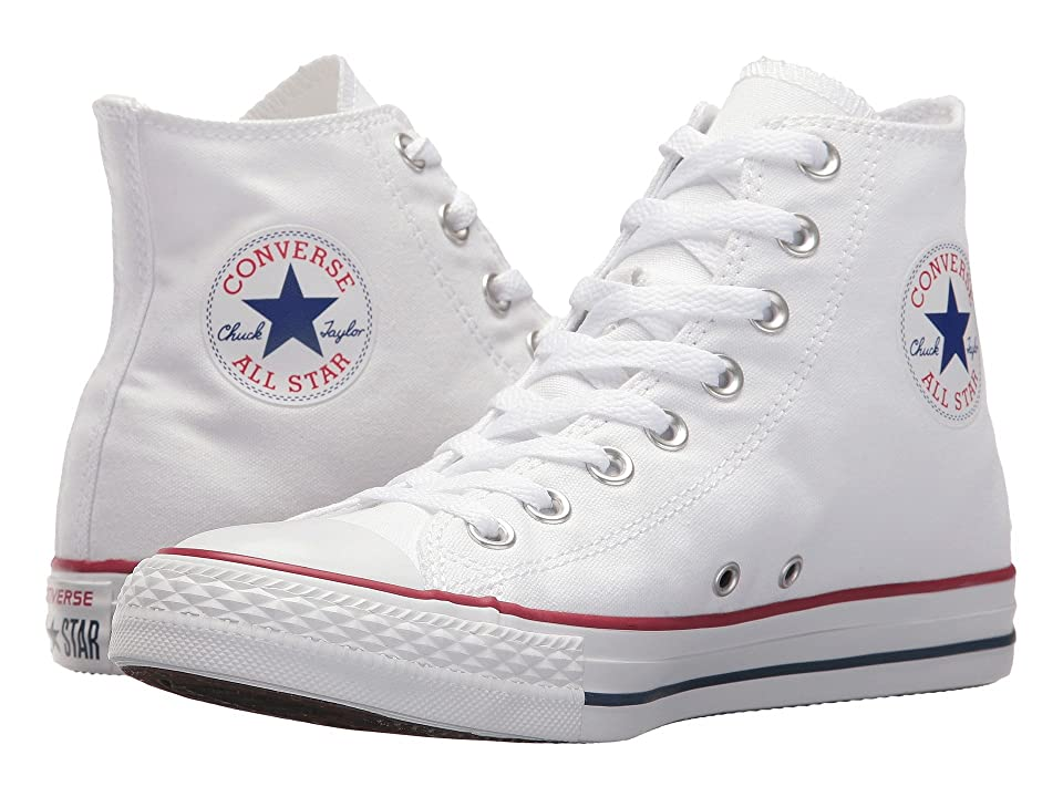 1950s Mens Shoes: Saddle Shoes, Boots, Greaser, Rockabilly Converse - Chuck Taylorr All Starr Core Hi Optical White Classic Shoes $54.99 AT vintagedancer.com