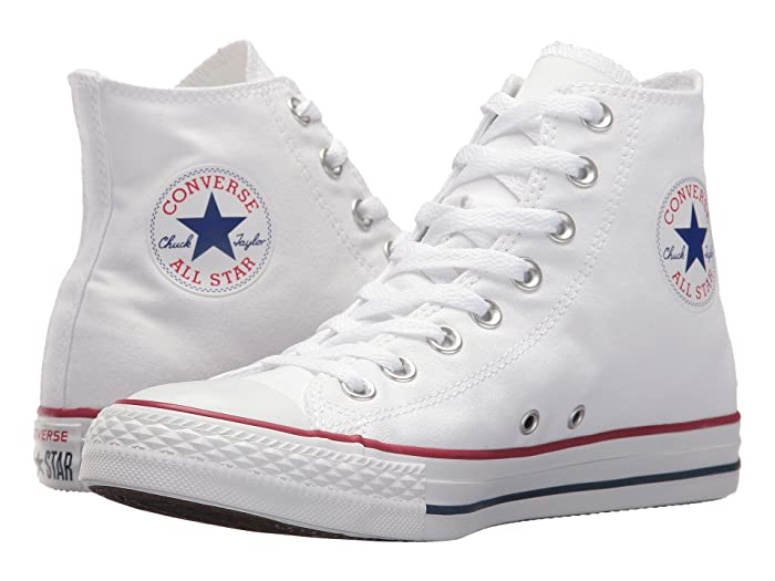 Retro Sneakers, Vintage Tennis Shoes Converse Chuck Taylorr All Starr Core Hi Optical White Classic Shoes $54.99 AT vintagedancer.com