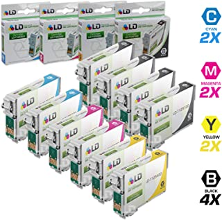 LD Remanufactured Ink Cartridge Replacements for Epson 125 (4 Black, 2 Cyan, 2 Magenta, 2 Yellow, 10-Pack)