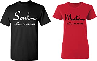 182b3832bc Soul - Mate Personalized Couple Matching Shirts Married Custom Valentines  Day
