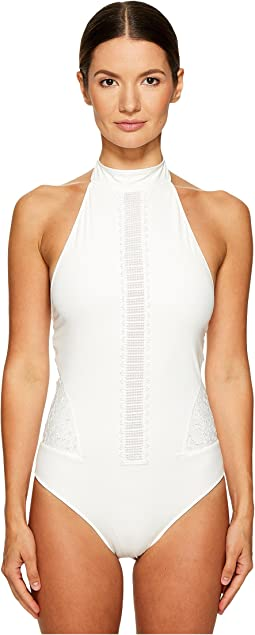 Jonathan Simkhai - High Neck Lace One-Piece