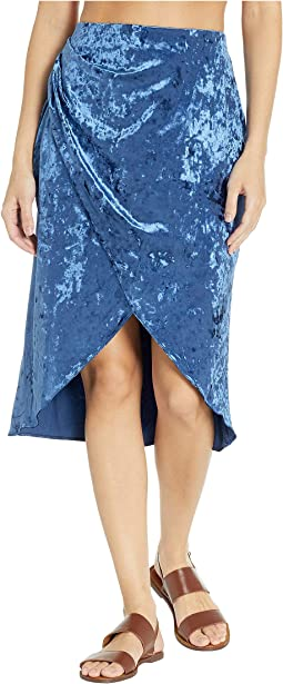 Solids Velvet Group Wrap Skirt Cover-Up