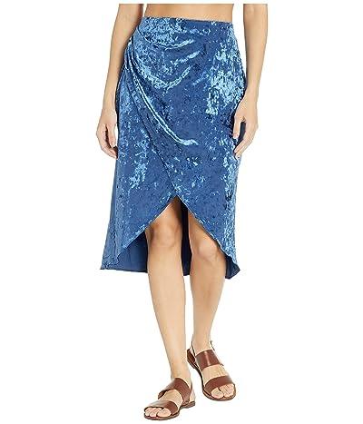 MICHAEL Michael Kors Solids Velvet Group Wrap Skirt Cover-Up (New Navy) Women