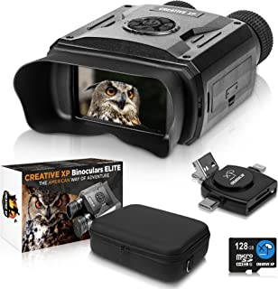 CREATIVE XP Elite Digital Night Vision Binoculars for Adults – Infrared Night Vision Goggles for Hunting, Spy, Military & ...