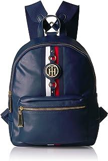 Tommy Hilfiger womens Backpack Jaden Shoulder Handbag, Navy, One Size US