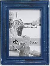 إطارات لورانس 746657 5x7 إطار صورة خشبي أزرق داكن