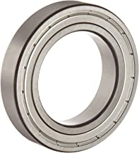 FAG 6004-2ZR-C3 Deep Groove Ball Bearing, Single Row, Double Shielded, Steel Cage, C3 Clearance, Metric, 20mm ID, 42mm OD, 12 mm Wide 17000rpm Maximum Rotational Speed, 1120lbf Static Load Capacity, 2100lbf Dynamic Load Capacity