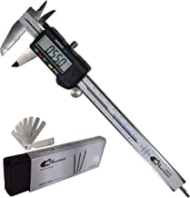 MeasuGator Silverine Digital Caliper, 2 Addons, Verifiable Accuracy, Automatic Off/On, 6 Inch/150 mm Range, SAE/Metric Modes, Premium Quality Stainless Steel Calipers, Spare Batteries, Feeler Gauge